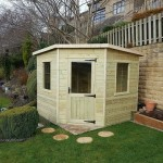 deluxe corner shed
