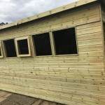 shed and workbench